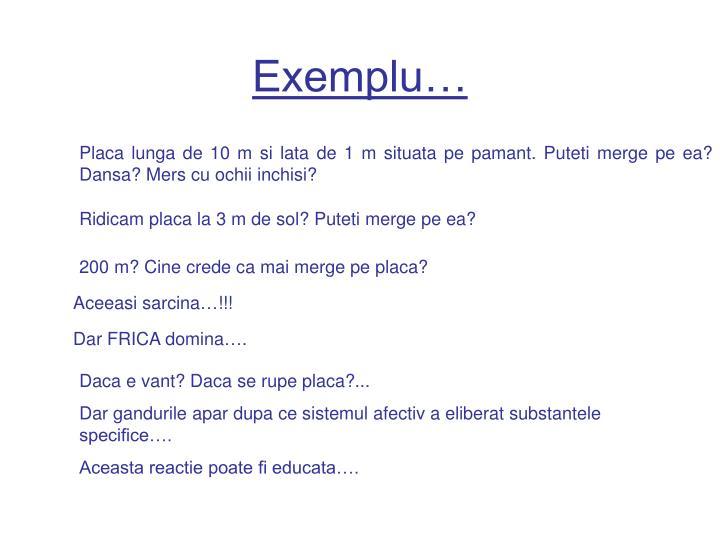 Exemplu…