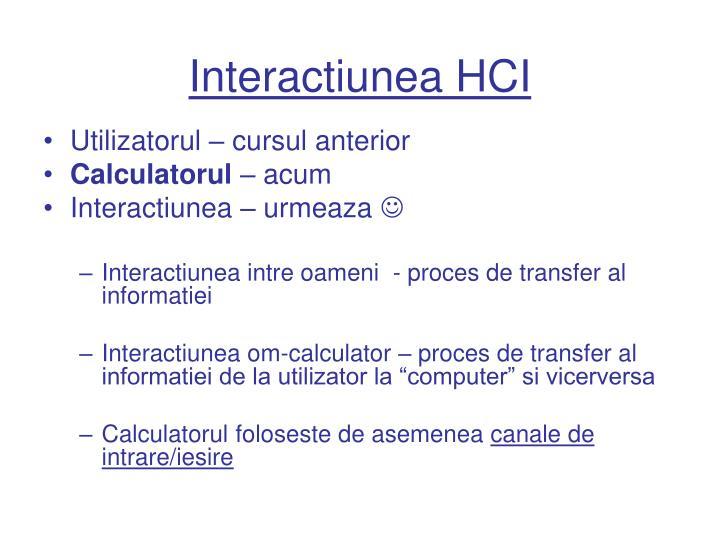 Interactiunea HCI