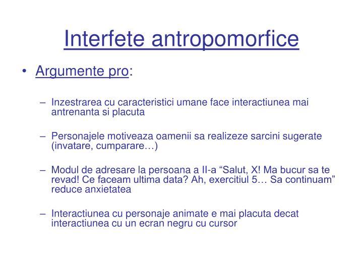 Interfete antropomorfice