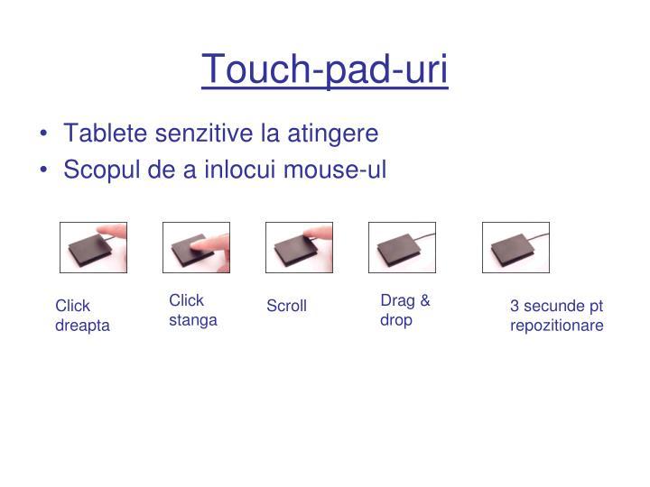 Touch-pad-uri