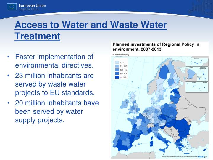 Access to Water and Waste Water Treatment