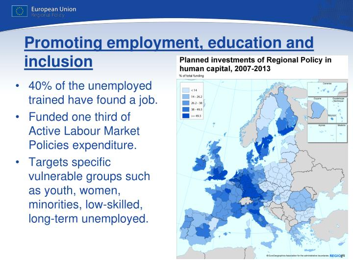 Promoting employment, education and inclusion