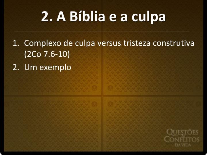 2. A Bíblia e a culpa