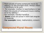 compound plural nouns