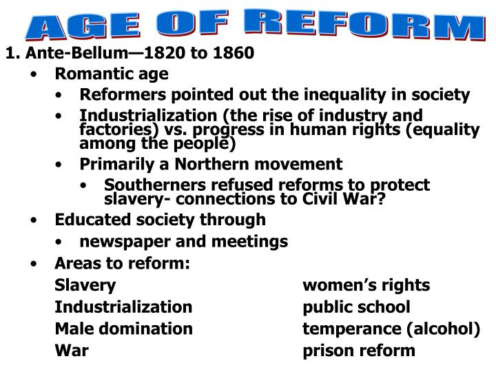 AGE OF REFORM