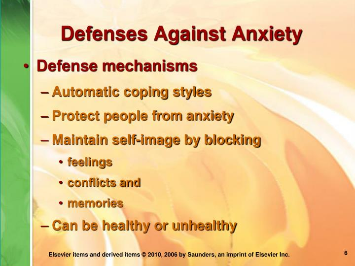 Defenses Against Anxiety