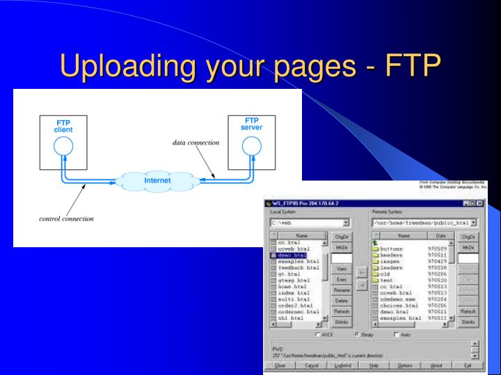 Uploading your pages - FTP