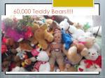 60 000 teddy bears
