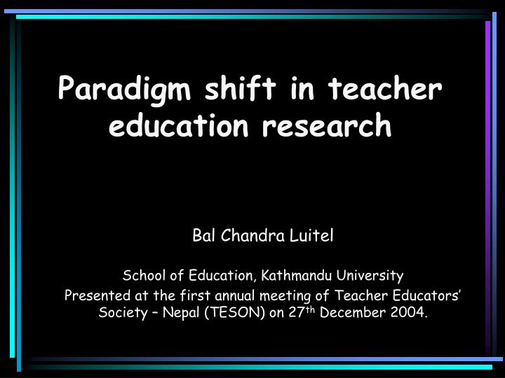 an essay on the need of paradigm shift in civil engineering education A 'paradigm shift' in engineering education is underway in response to increasing demands for engineers with the ability to manage technological innovation (creed, suuberg, and crawford 2002 creed, c j, e m suuberg, and g p crawford.