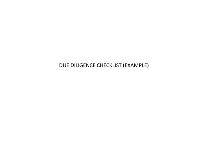 Ppt  Due Diligence Checklist Example Powerpoint Presentation  Id