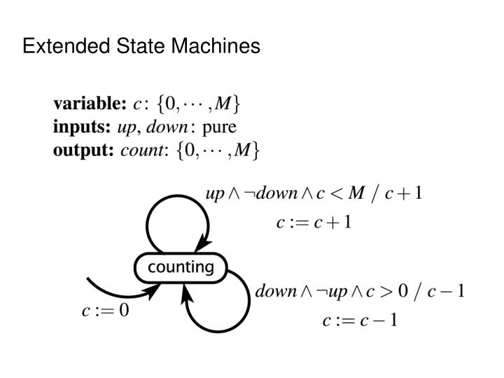 Extended State Machines