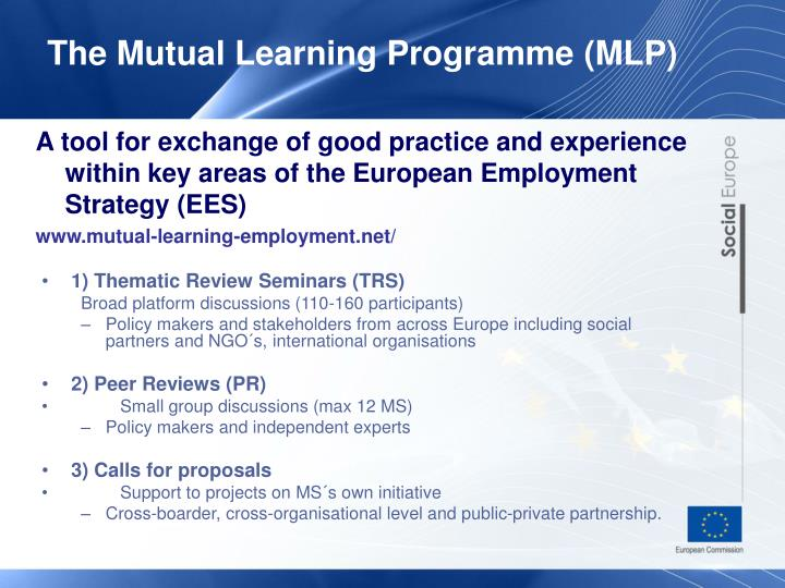 The Mutual Learning Programme (MLP)