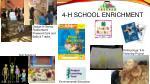 4 h school enrichment