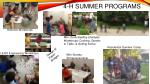 4 h summer programs