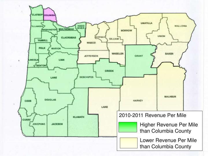 2010-2011 Revenue Per Mile