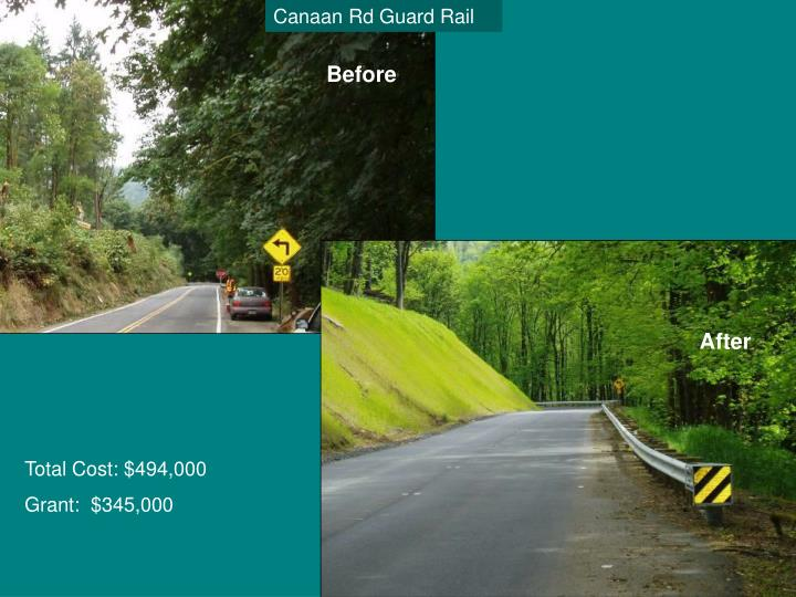 Canaan Rd Guard Rail