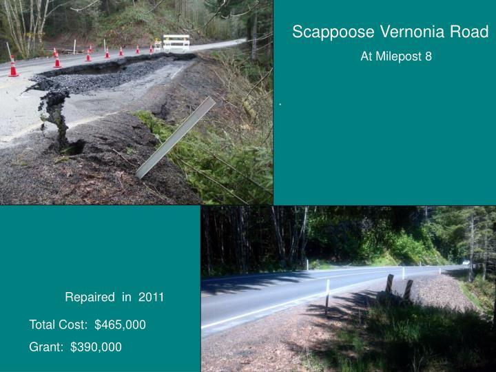 Scappoose Vernonia Road
