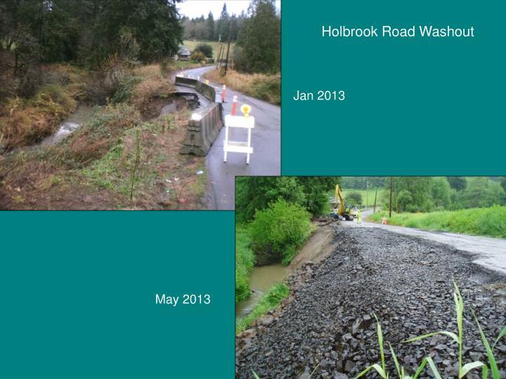 Holbrook Road Washout