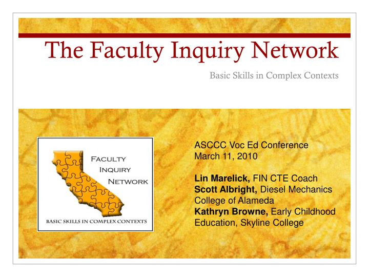 the faculty inquiry network n.