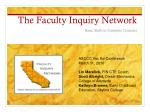 the faculty inquiry network