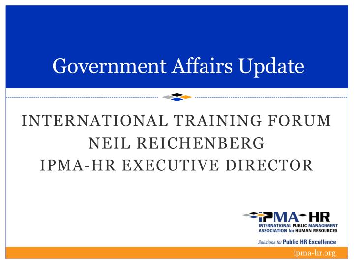 government affairs update n.