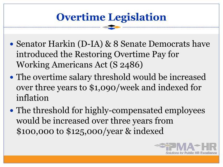 Overtime Legislation