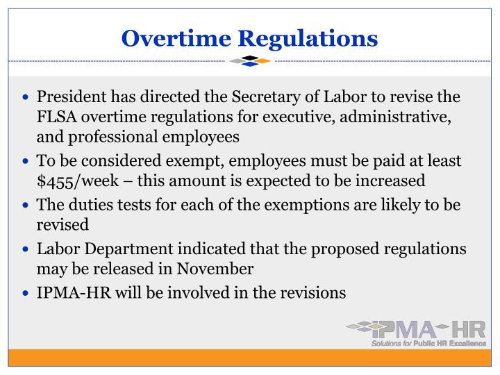 Overtime Regulations
