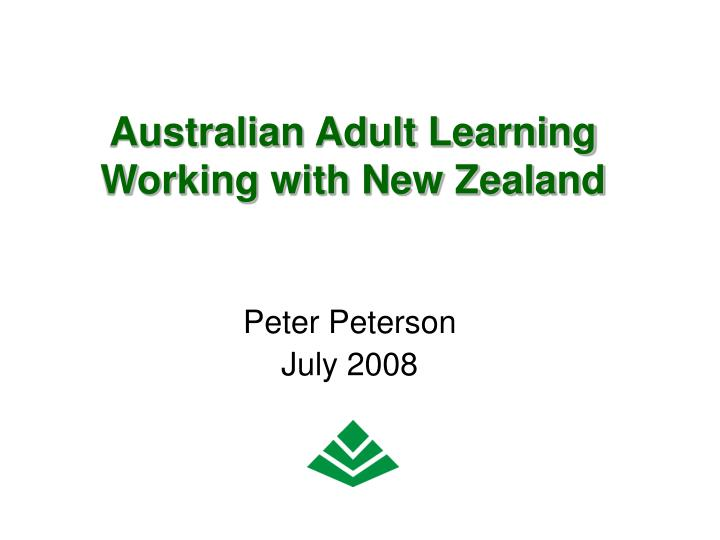australian adult learning working with new zealand n.