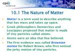 10 1 the nature of matter