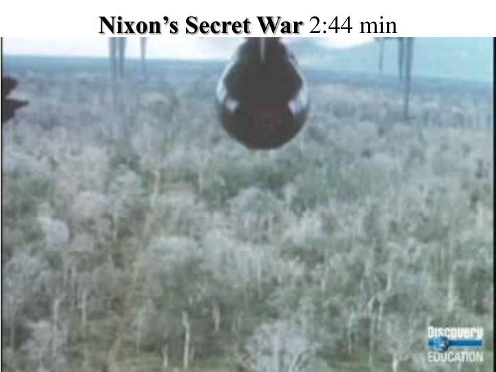 Nixon's Secret War