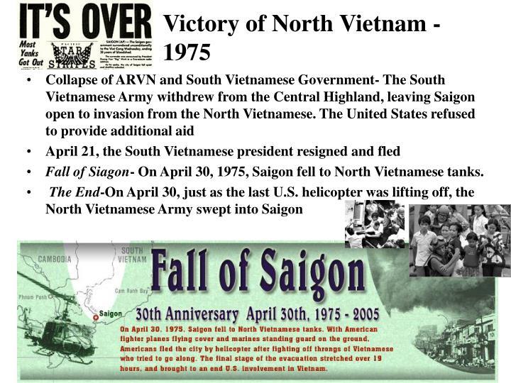 Victory of North Vietnam - 1975