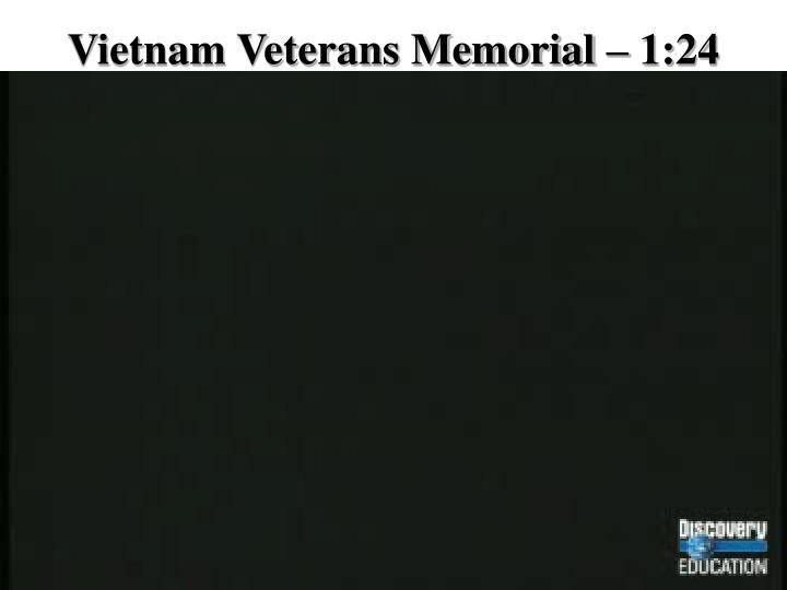 Vietnam Veterans Memorial – 1:24