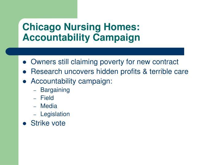 Chicago Nursing Homes: Accountability Campaign