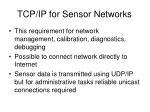 tcp ip for sensor networks