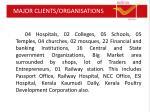 major clients organisations
