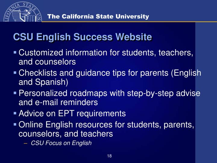 CSU English Success Website