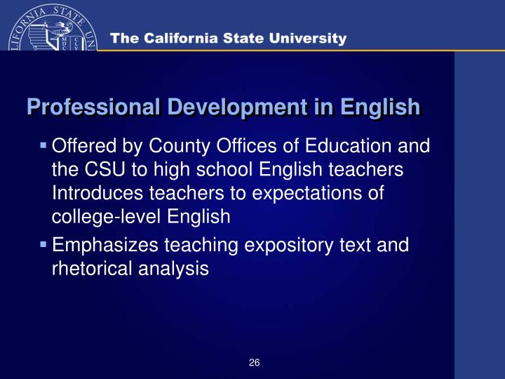 Professional Development in English