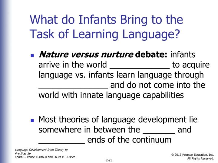 nature vs nurture in language acquistion