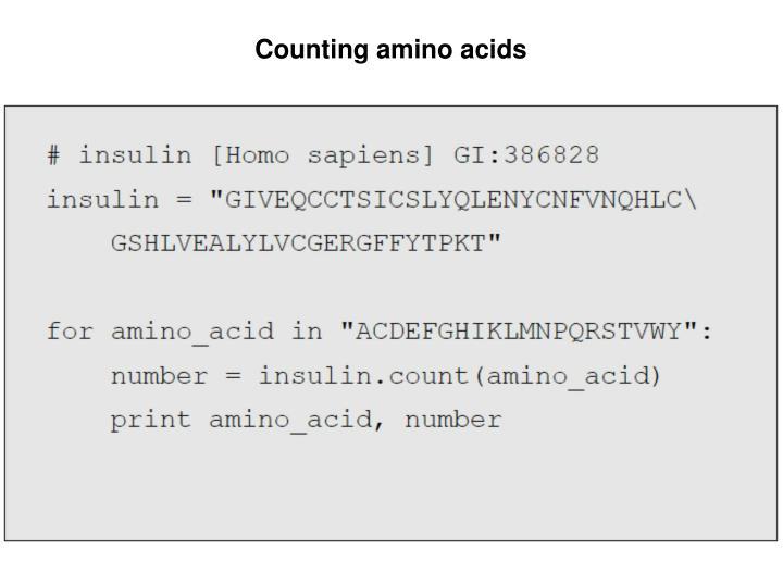 Counting amino acids