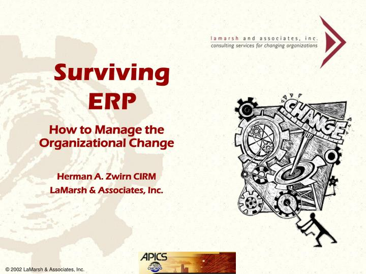 how to manage the organizational change herman a zwirn cirm lamarsh associates inc n.