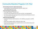 community education programs in st paul