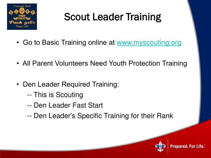 Scout Leader Training