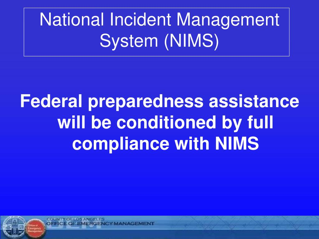 Ppt National Incident Management System Nims Powerpoint Presentation Id 6403198