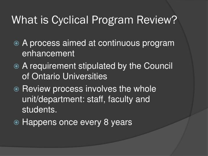 What is Cyclical Program Review?