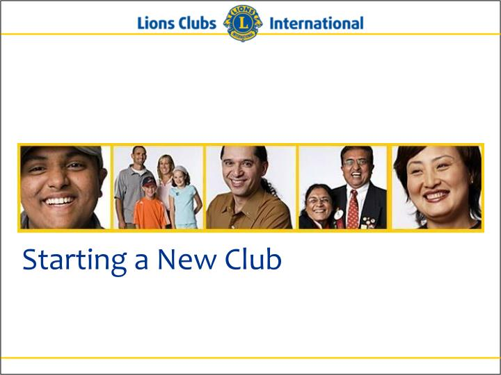 Starting a new club