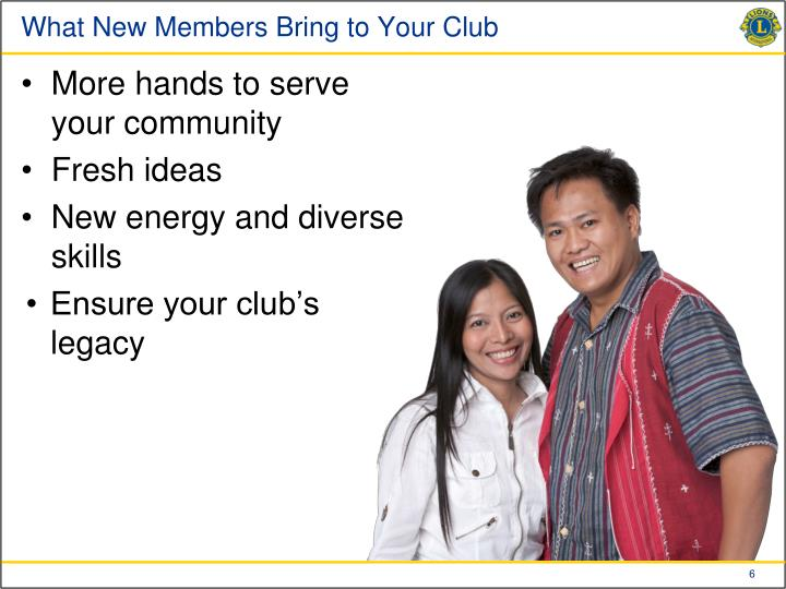 What New Members Bring to Your Club