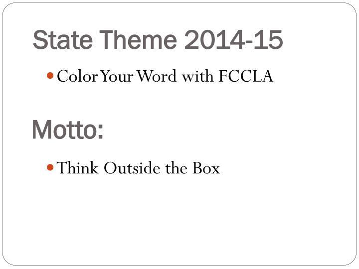 State Theme 2014-15