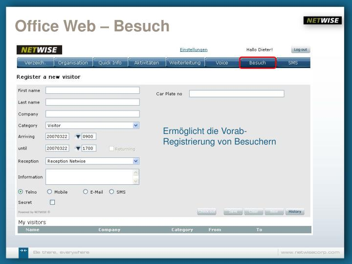 Office Web – Besuch