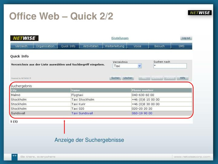 Office Web – Quick 2/2