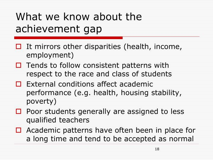 What we know about the achievement gap